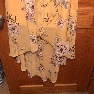 Maurices Dresses - Yellow floral dress